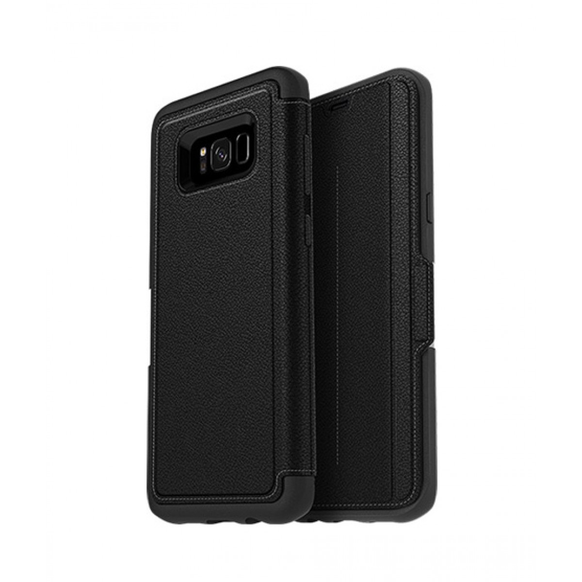 promo code 11301 d5d07 OtterBox Strada Series Leather Folio Onyx Case For Galaxy S8+