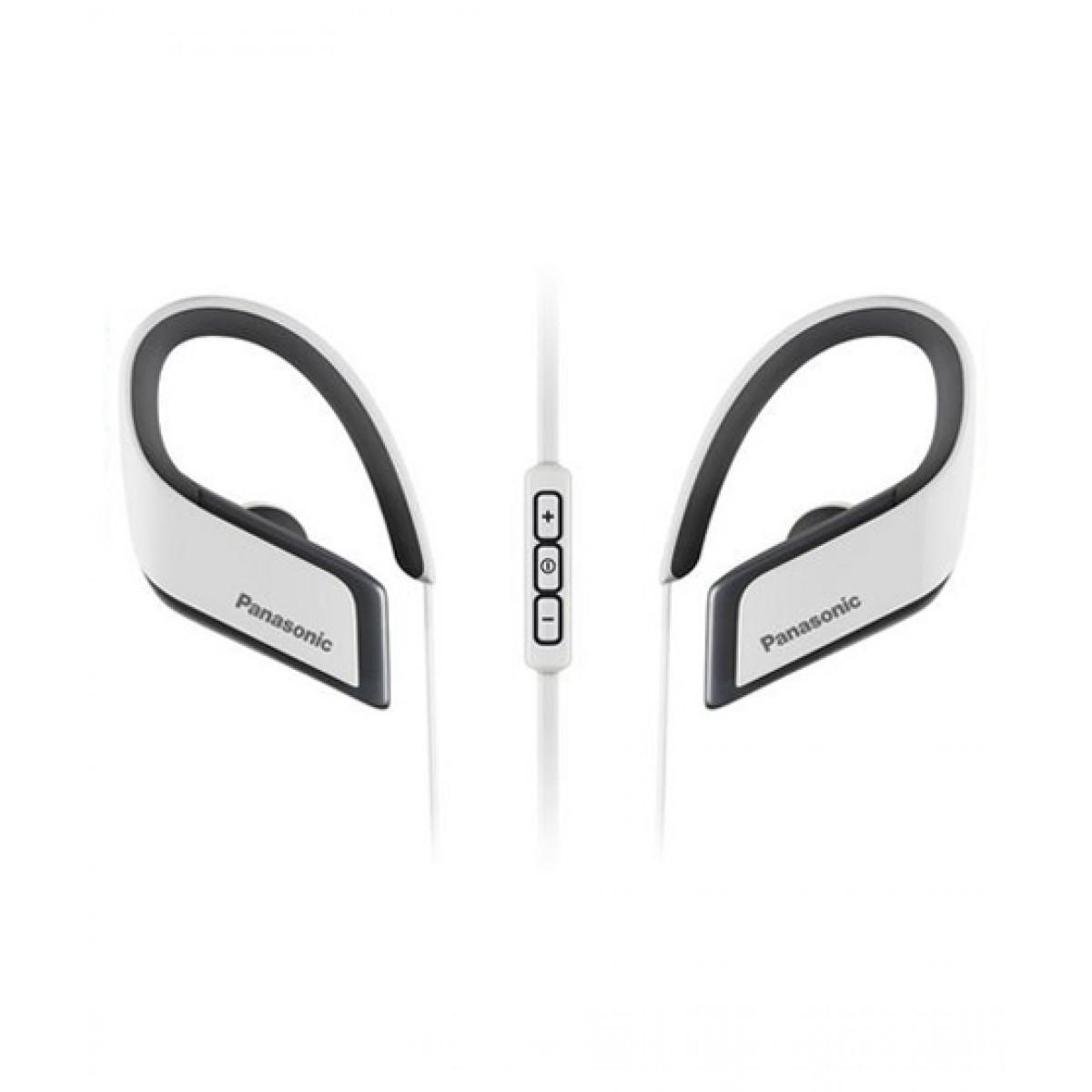 Panasonic WINGS Wireless Bluetooth Sport Earbuds White (RP-BTS30-W)