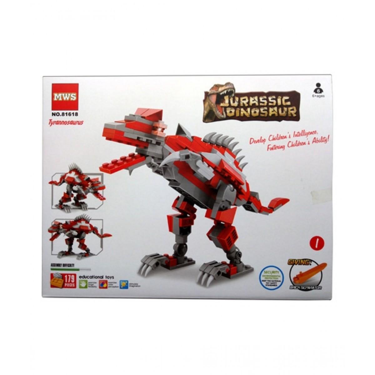 Planet X Jurassic Dinosaur Tyrannosaurus Building Blocks Red (PX-9777)
