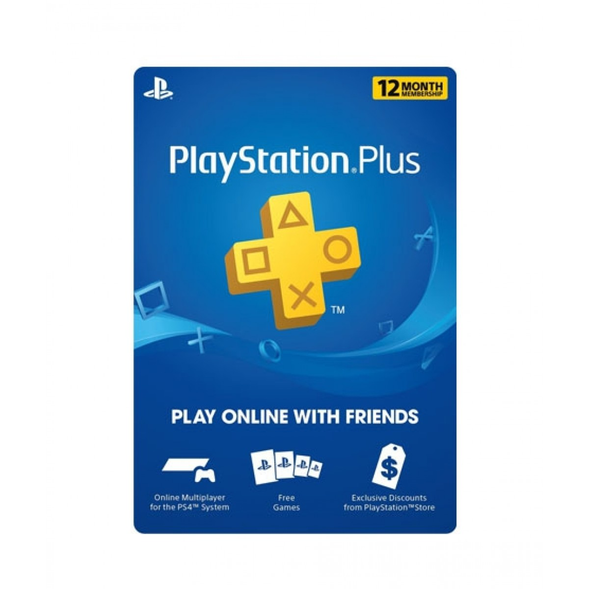 PlayStation Plus 12 Months Membership Card - PS3/PS4/PS4 Pro/PS Vista -  Email Delivery