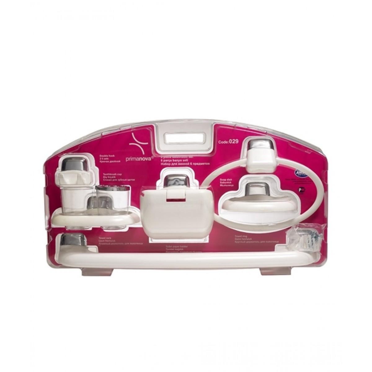 Primanova Bathroom Set 6 Pieces White (2901)
