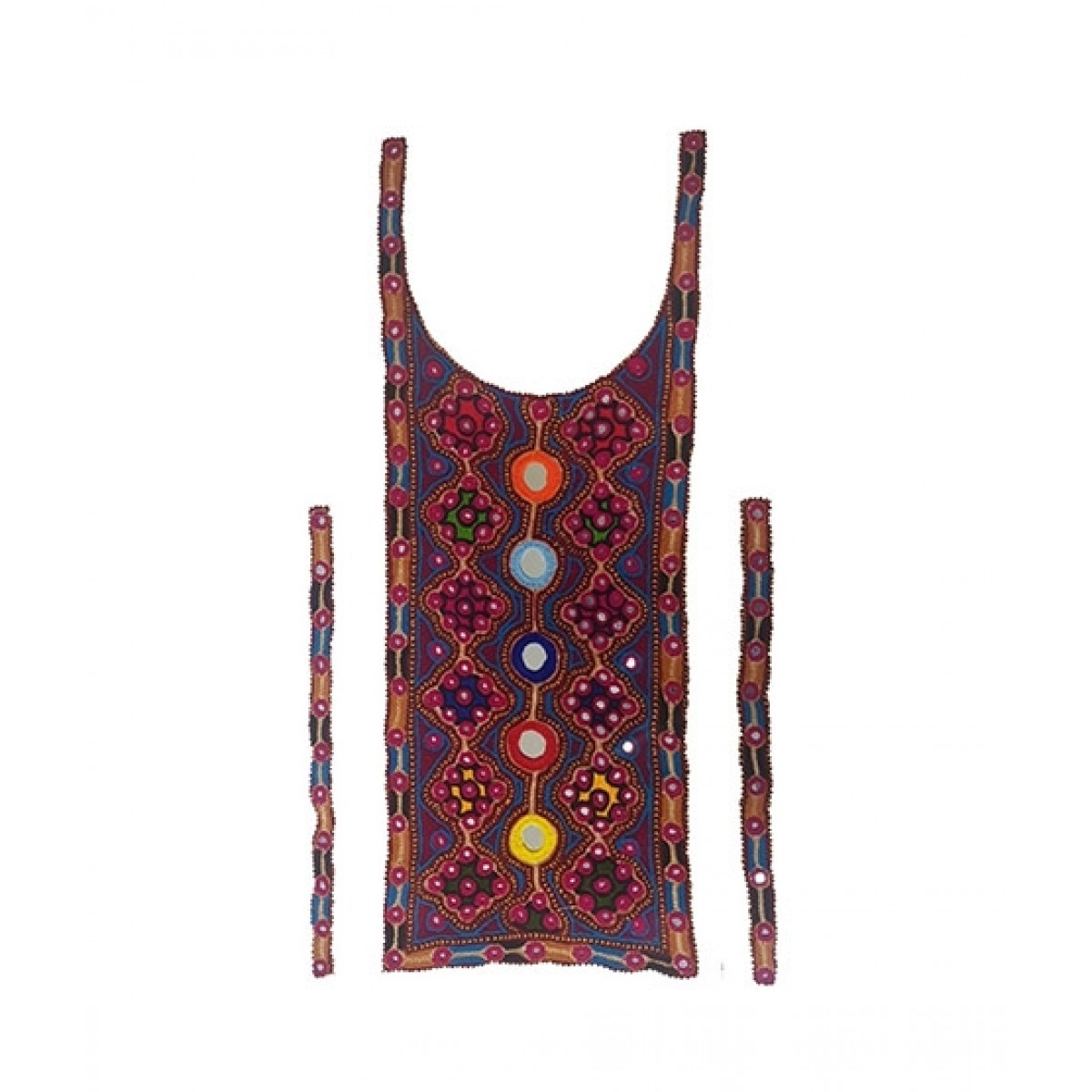 Proxymedia Sindhi Embroider Neck (Gala) - Design 5