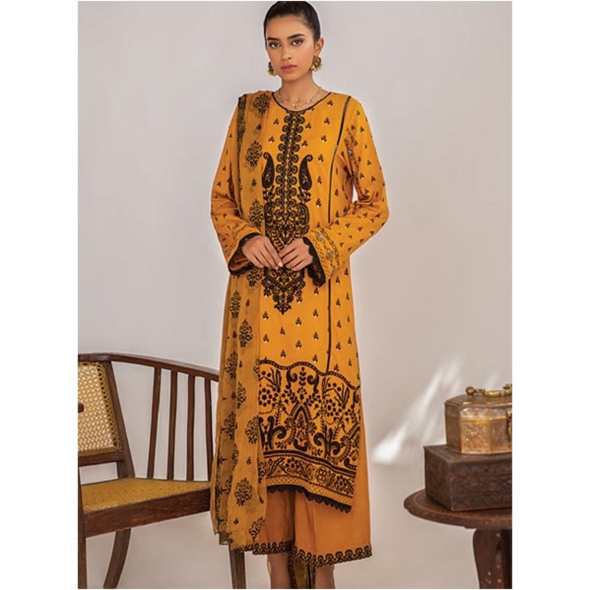 Qalamkar Qline Linen Collection 2020 Unstitched 3 Piece (LE-14)
