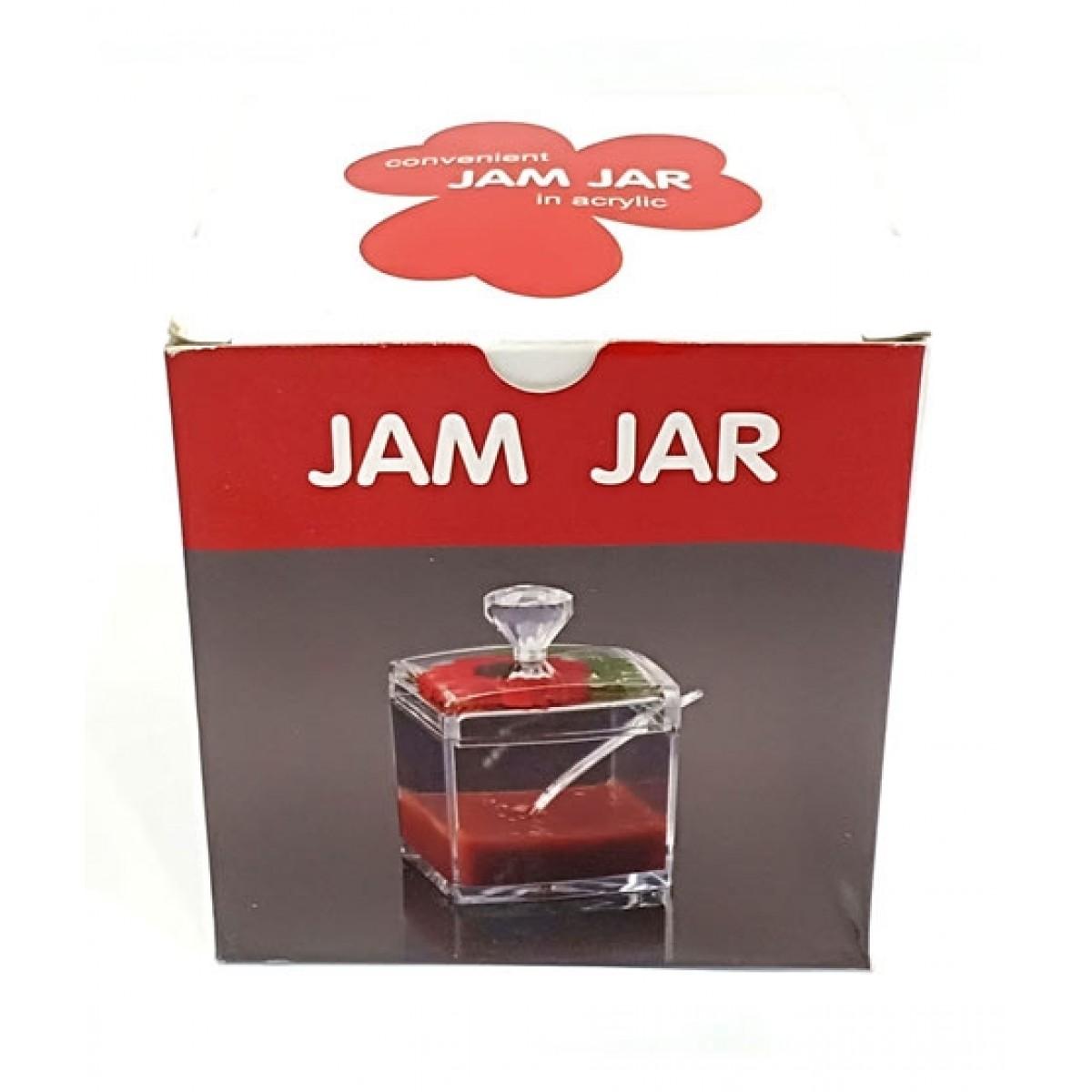 Quickshopping Acrylic Jam Jar With Spoon