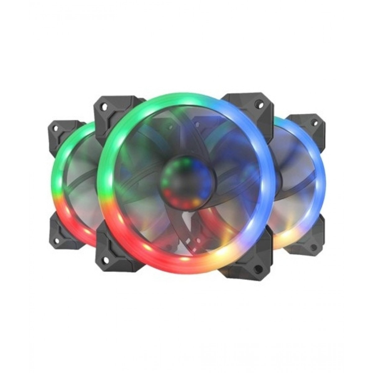 Redragon GC-F008 Computer Case PC Cooling Fans Pack Of 3
