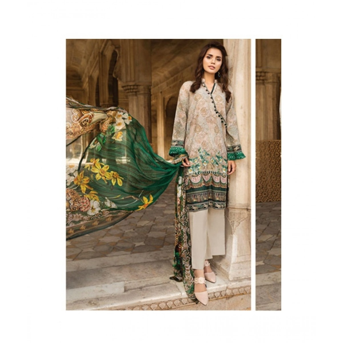 b27e1b49ec Resham Ghar Printed Women's Lawn Price in Pakistan | Buy Resham Ghar  Women's Lawn Vol-1 Collection 2018 (JL-02) | iShopping.pk