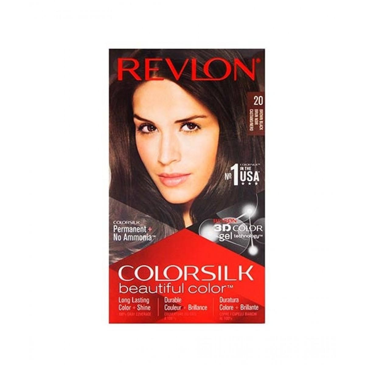 Revlon ColorSilk Hair Color (20 Brown Black)