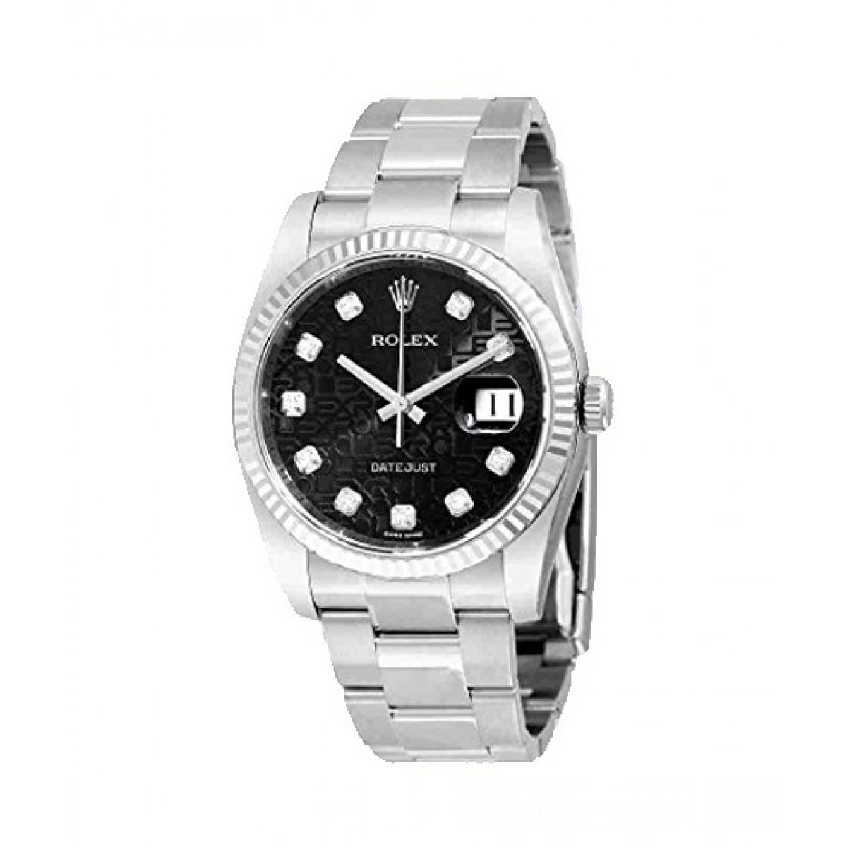 Rolex Datejust Men\u0027s Watch Silver (116234BKJDO)