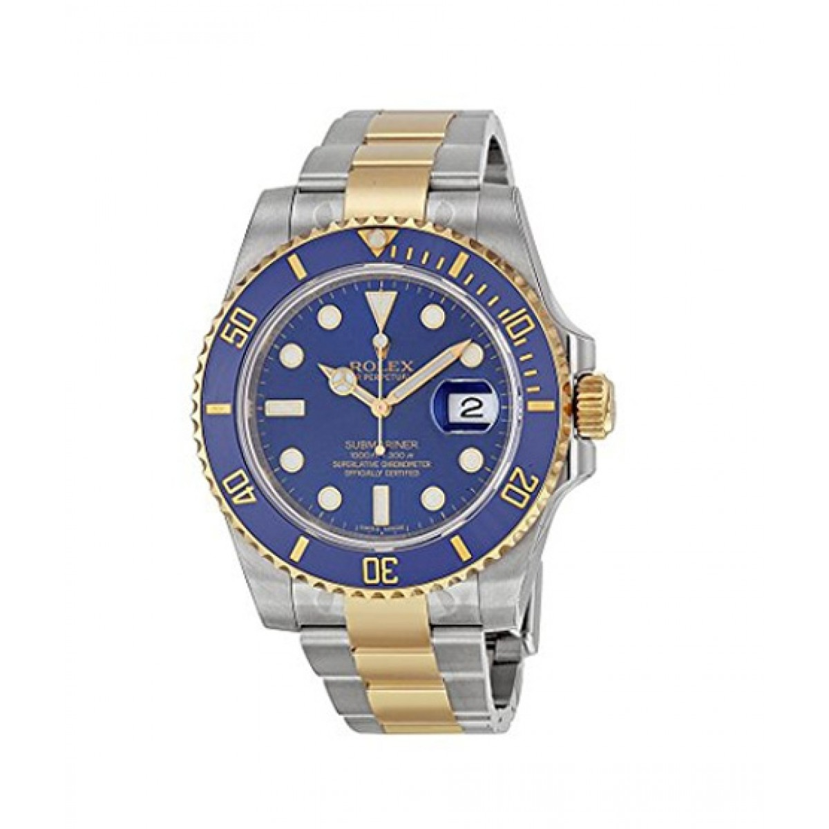 Rolex Submariner Automatic Men\u0027s Watch Yellow Gold (116613BLSO)