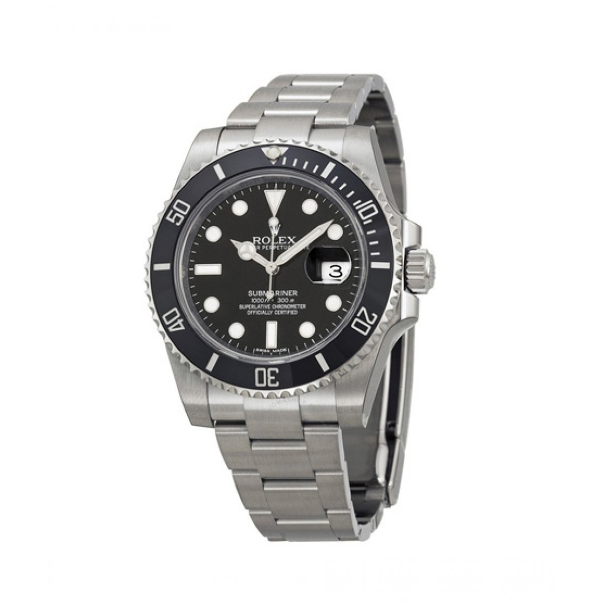 Rolex Submariner Date Men\u0027s Watch Silver (116610LN)