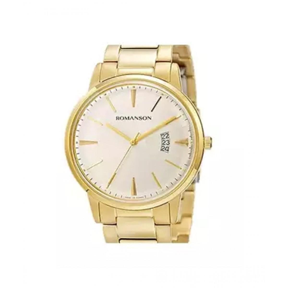 Romanson Quartz Men's Watch Gold (TM4201-MG-WH)
