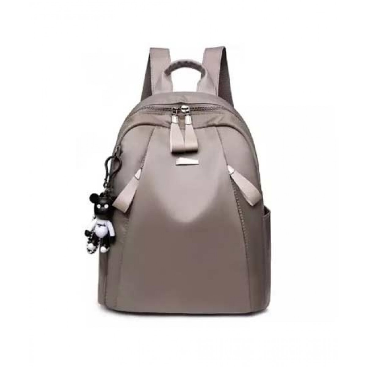 Saad Collection Luxury Drawstring College Bag For Women Grey