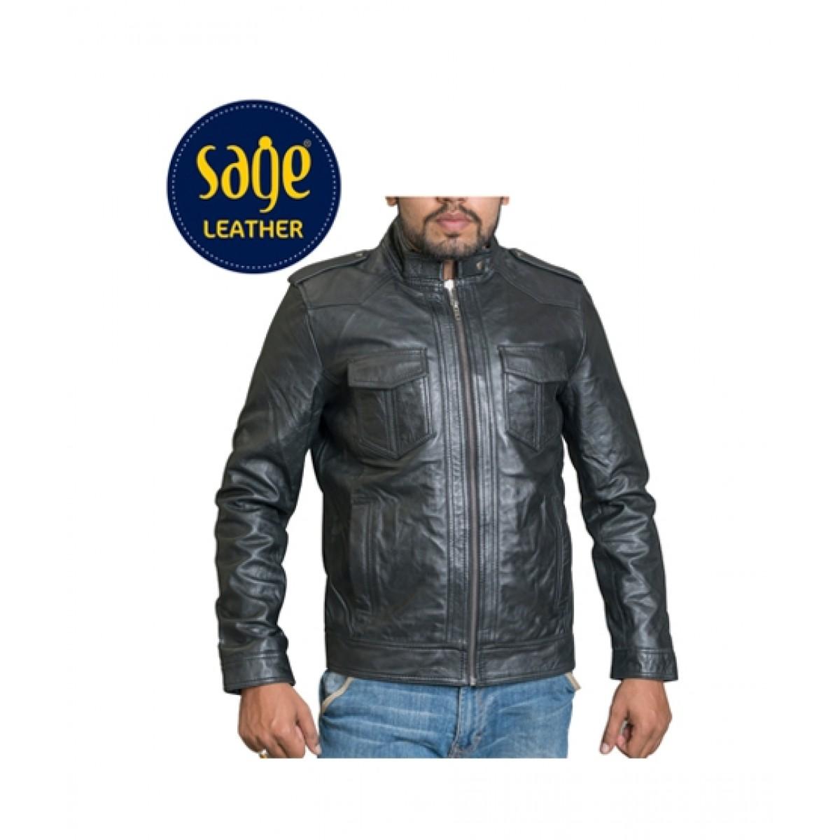 f13de79309d6 Sage Leather Jacket For Men Price in Pakistan | Buy Sage Leather Jacket For  Men Black (25071) | iShopping.pk