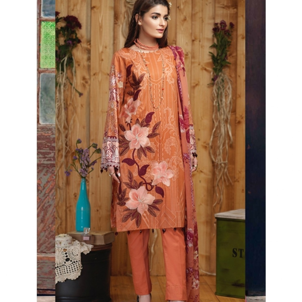 9ab0dfaad6 Salitex Silkoria Emb Collection Vol 4 2019 (RC-164B) Price in Pakistan |  Buy Salitex Silkoria Lawn Collection 3 Piece | iShopping.pk