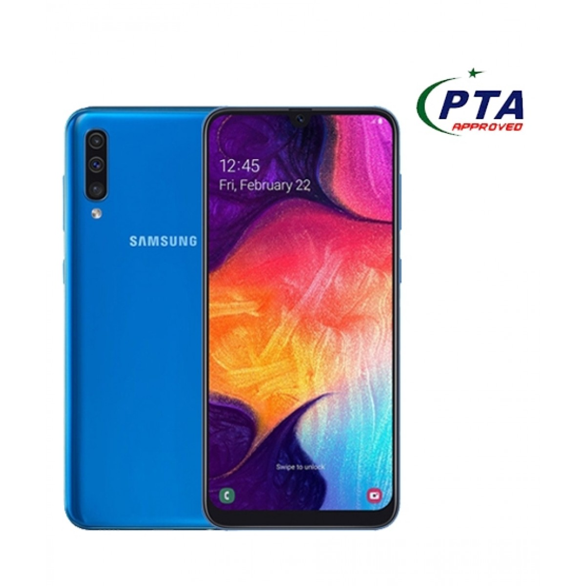 Samsung Galaxy A50 128GB 4GB RAM Dual Sim Blue - Official Warranty