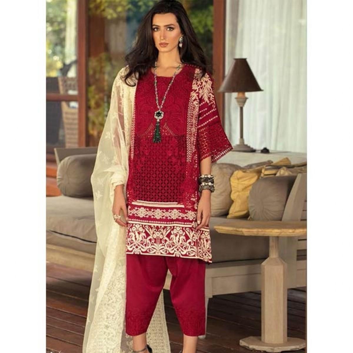 Sana Safinaz Luxury Lawn Collection 2020 3 Piece (05B)