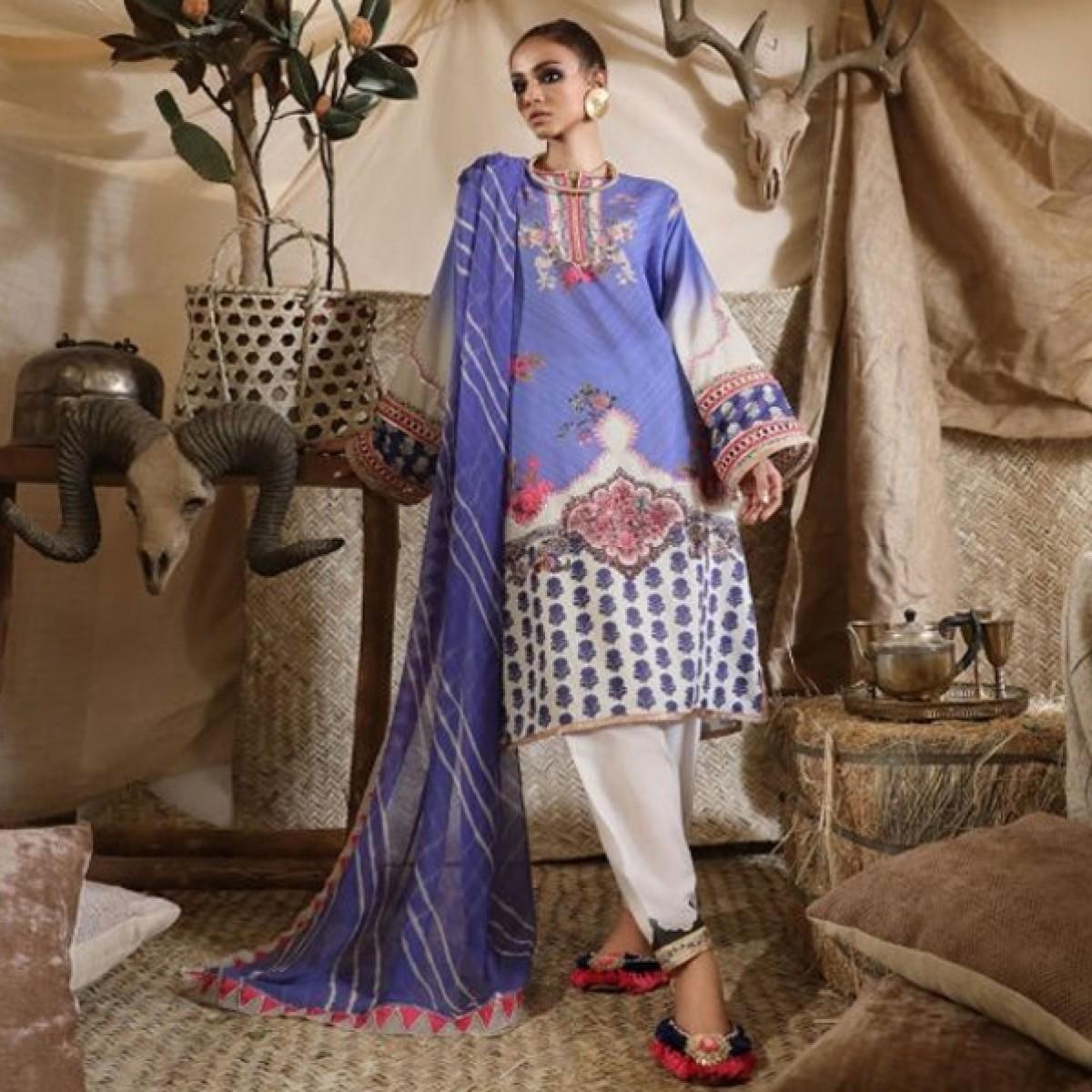 Sana Safinaz Mahay Unstitched Collection 2019 3 Piece (13A)
