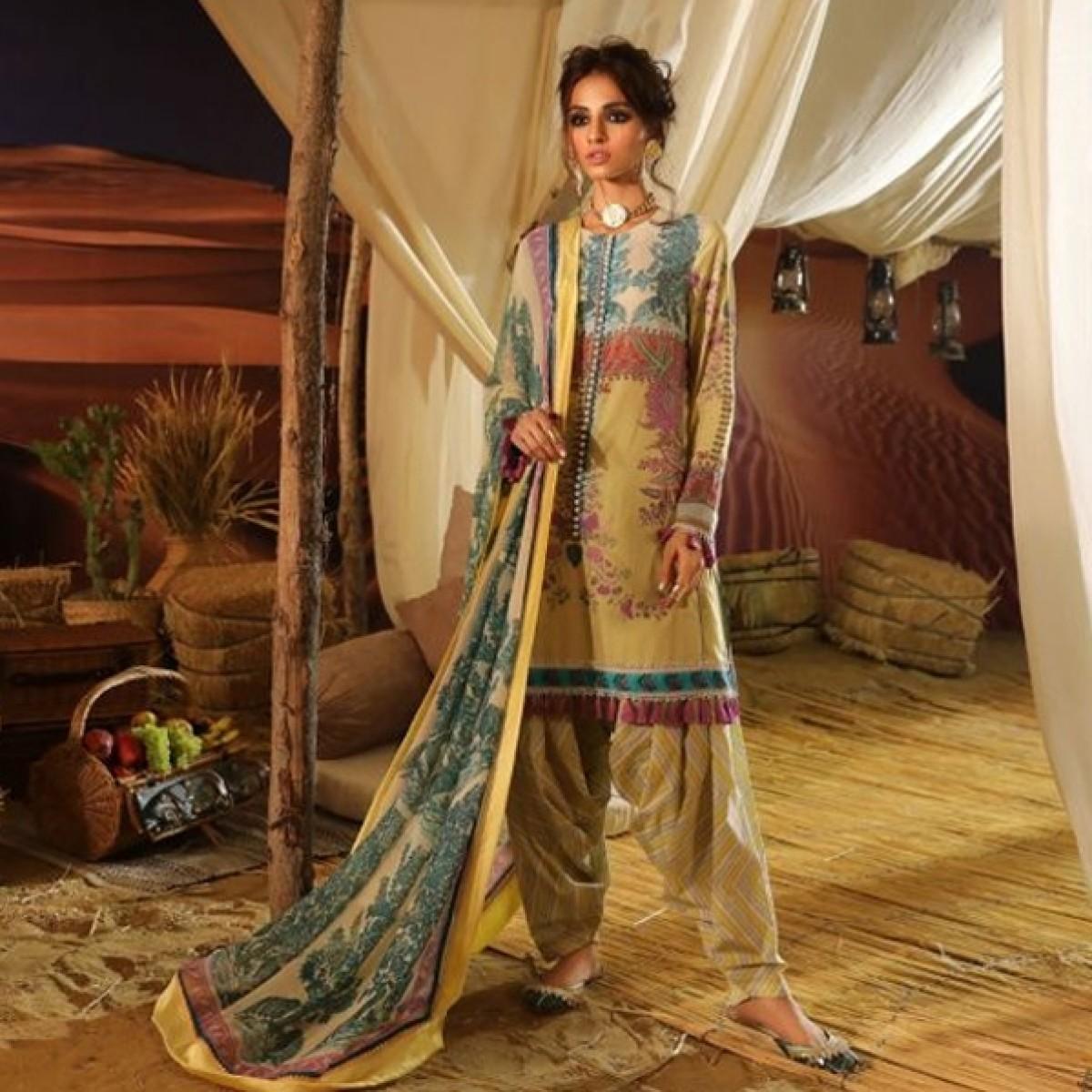 Sana Safinaz Mahay Unstitched Collection 2019 3 Piece (4A)