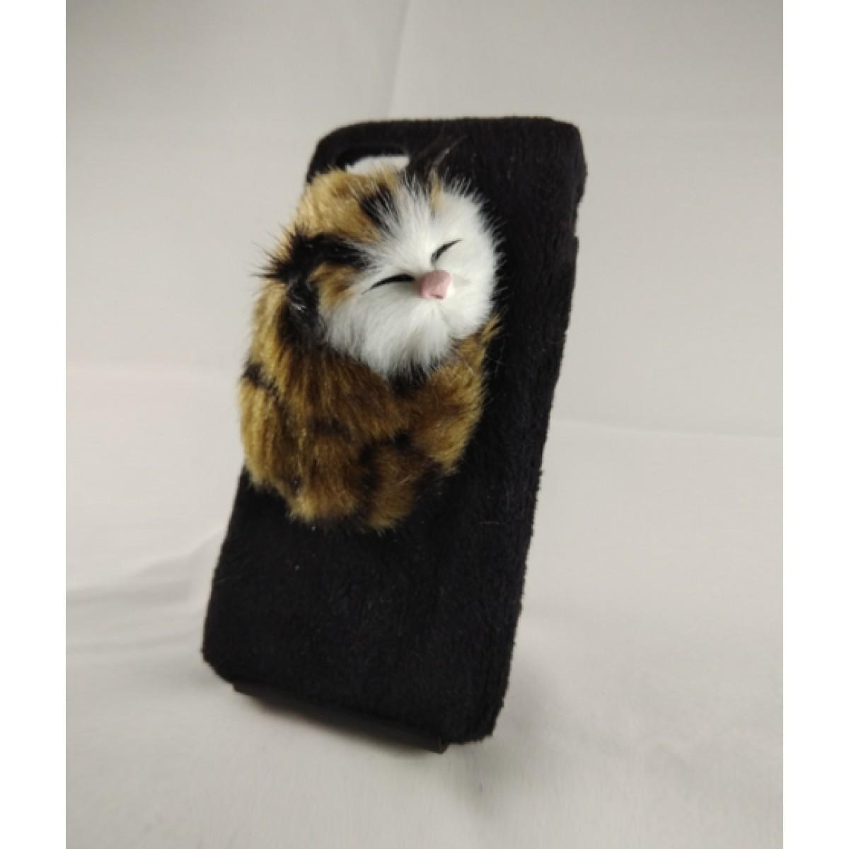 Sassy Sleeping Cat Black Case For iPhone 7 (1022)