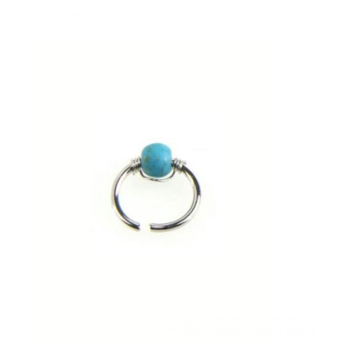 Scenic Accessories Hoop Nose Ring For Women Blue