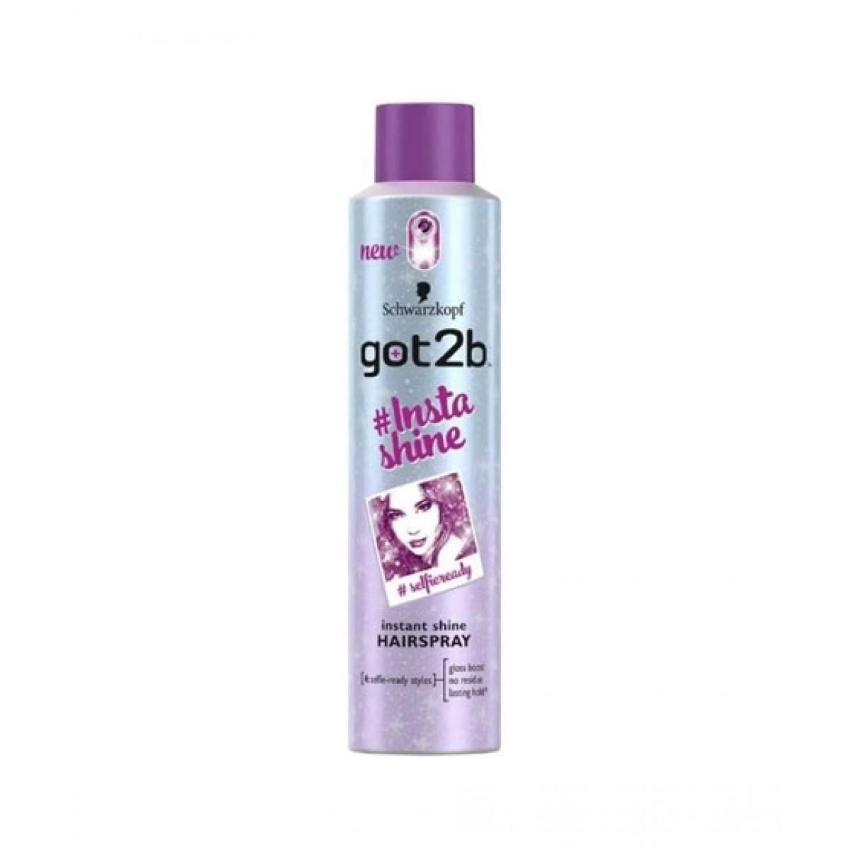 Schwarzkopf Got 2b Insta Shine Hair Spray 300ml