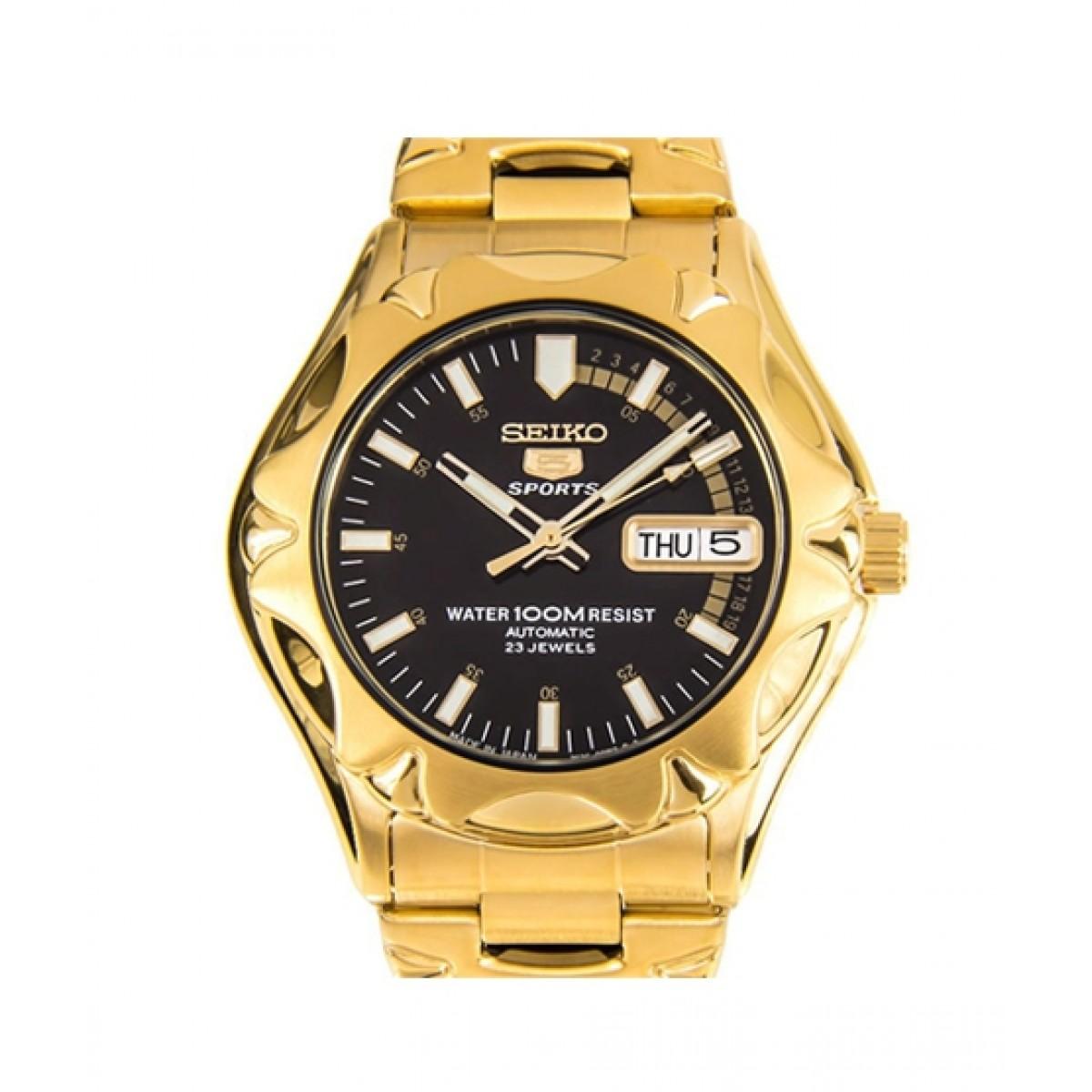 21524bac4 Seiko 5 Sports Men's Watch Gold Price in Pakistan | Buy Seiko Seiko Men's  Watch Gold (SNZ452J1) | iShopping.pk