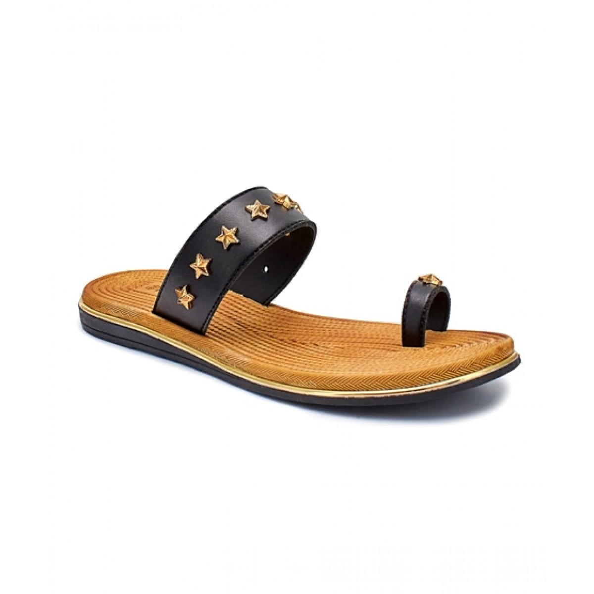 Servis Ndure Toe Ring Chappal For Women Black (ND-CU-0066)