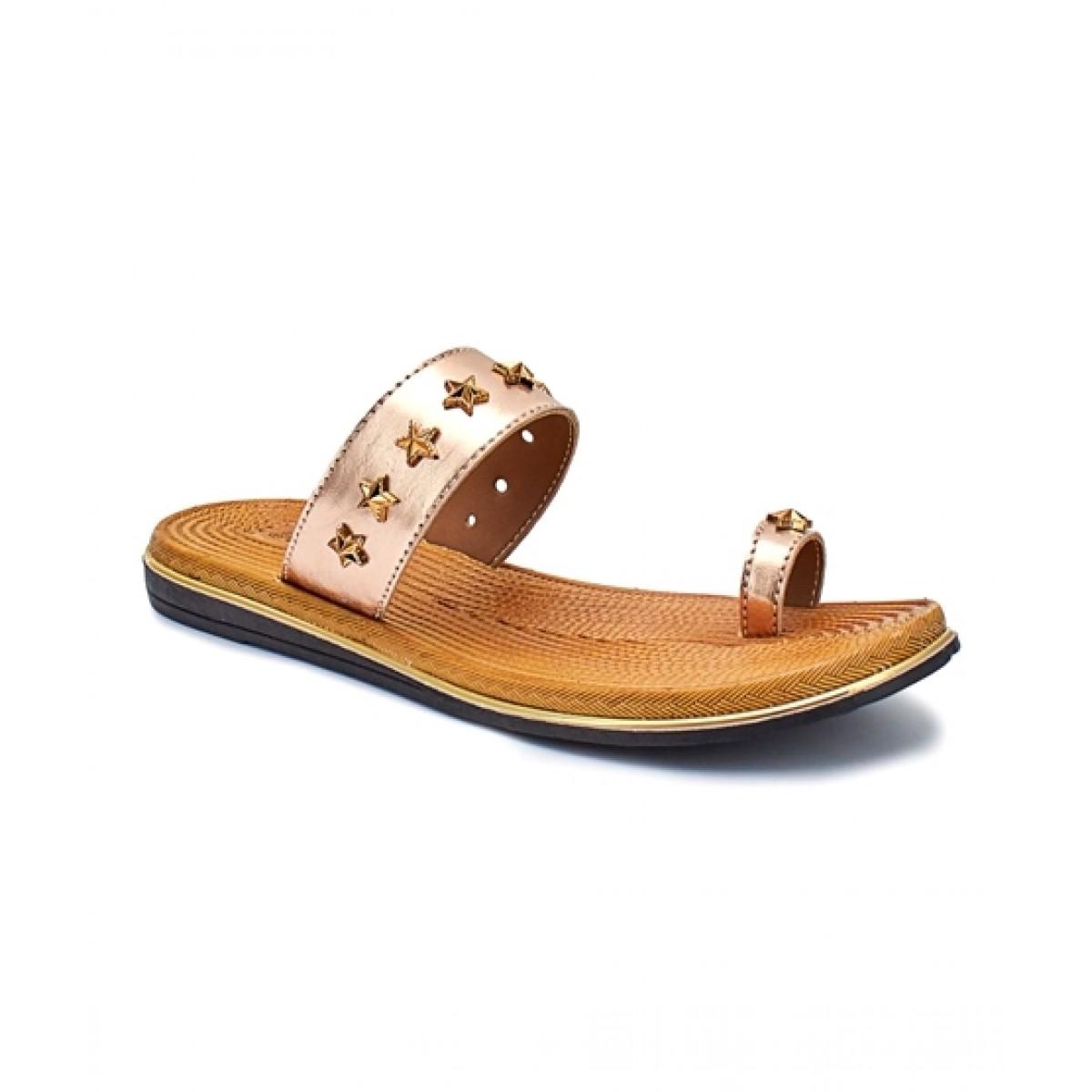 Servis Ndure Toe Ring Chappal For Women Rose-Gold (ND-CU-0066)