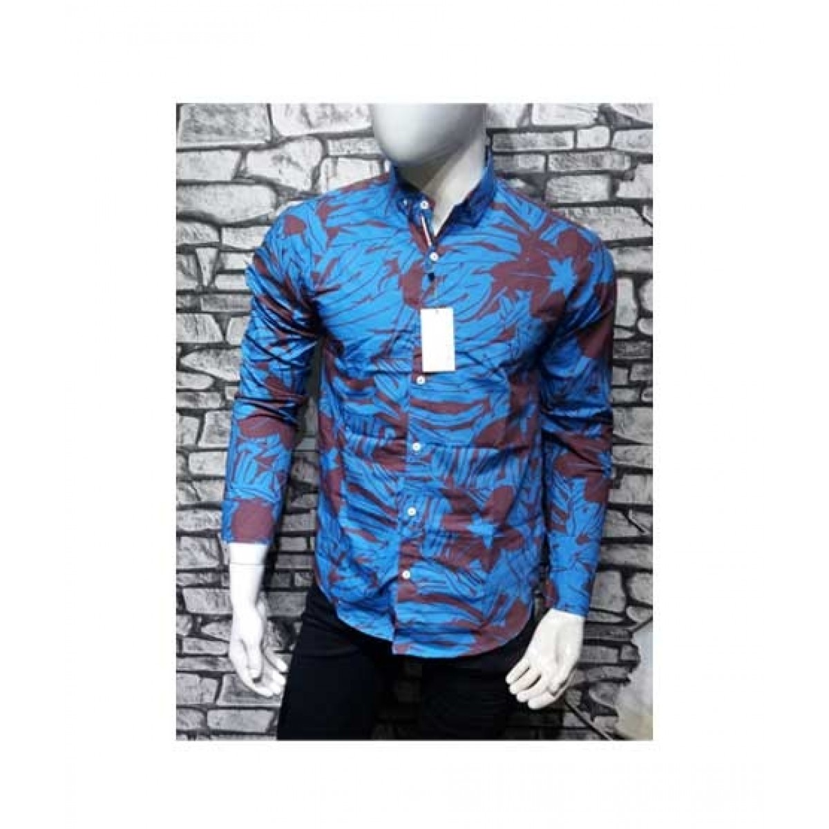 Shopping Gallery Printed Shirts For Men Blue (0034)