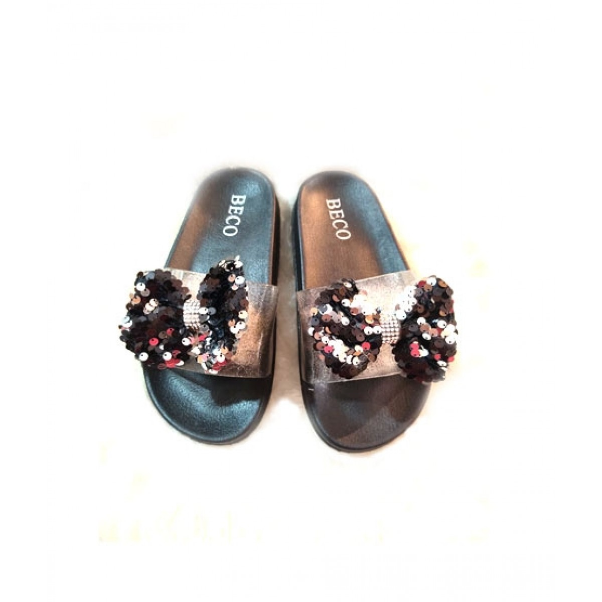 Shoppinggaardi Sparkle Bow Slippers For Women (SG-BE1)