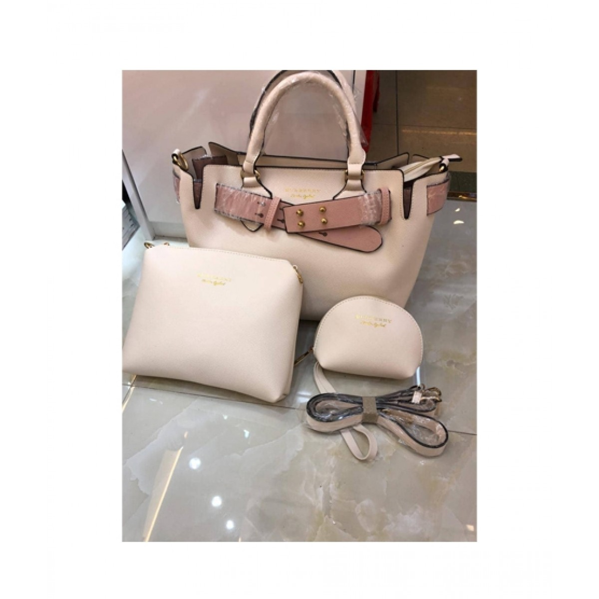 7e0e7ba0bae9 Shoppinggaardi Burberry bags Women Off White (SG-AK-03) Price in Pakistan