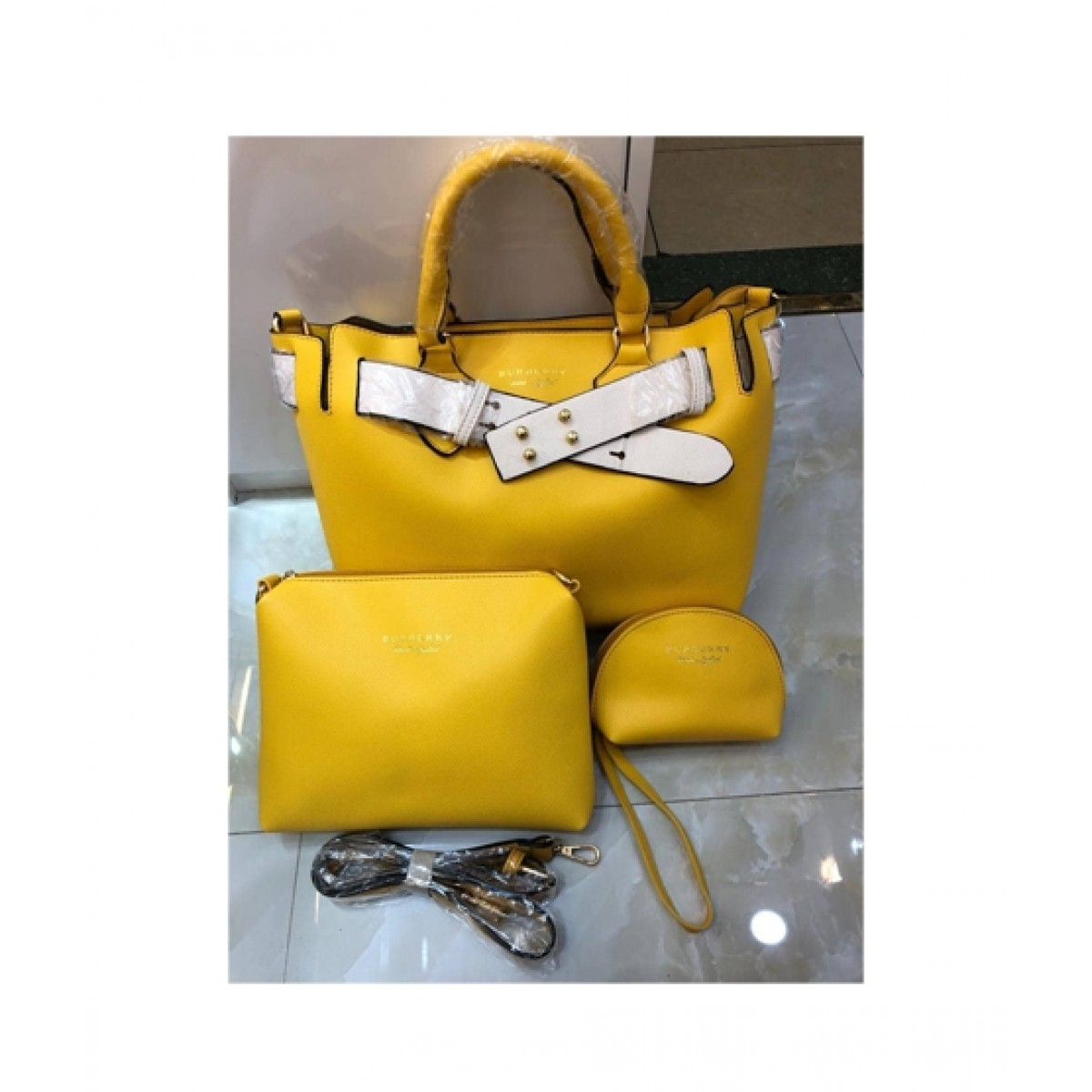 9432d6d0c6ce Shoppinggaardi Burberry bags Women Yellow (SG-AK-03) Price in Pakistan
