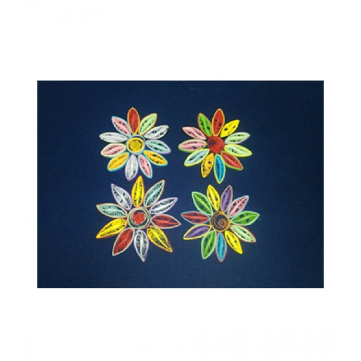 SM Products Stylish Quilling Artificial Flower Pack Of 4