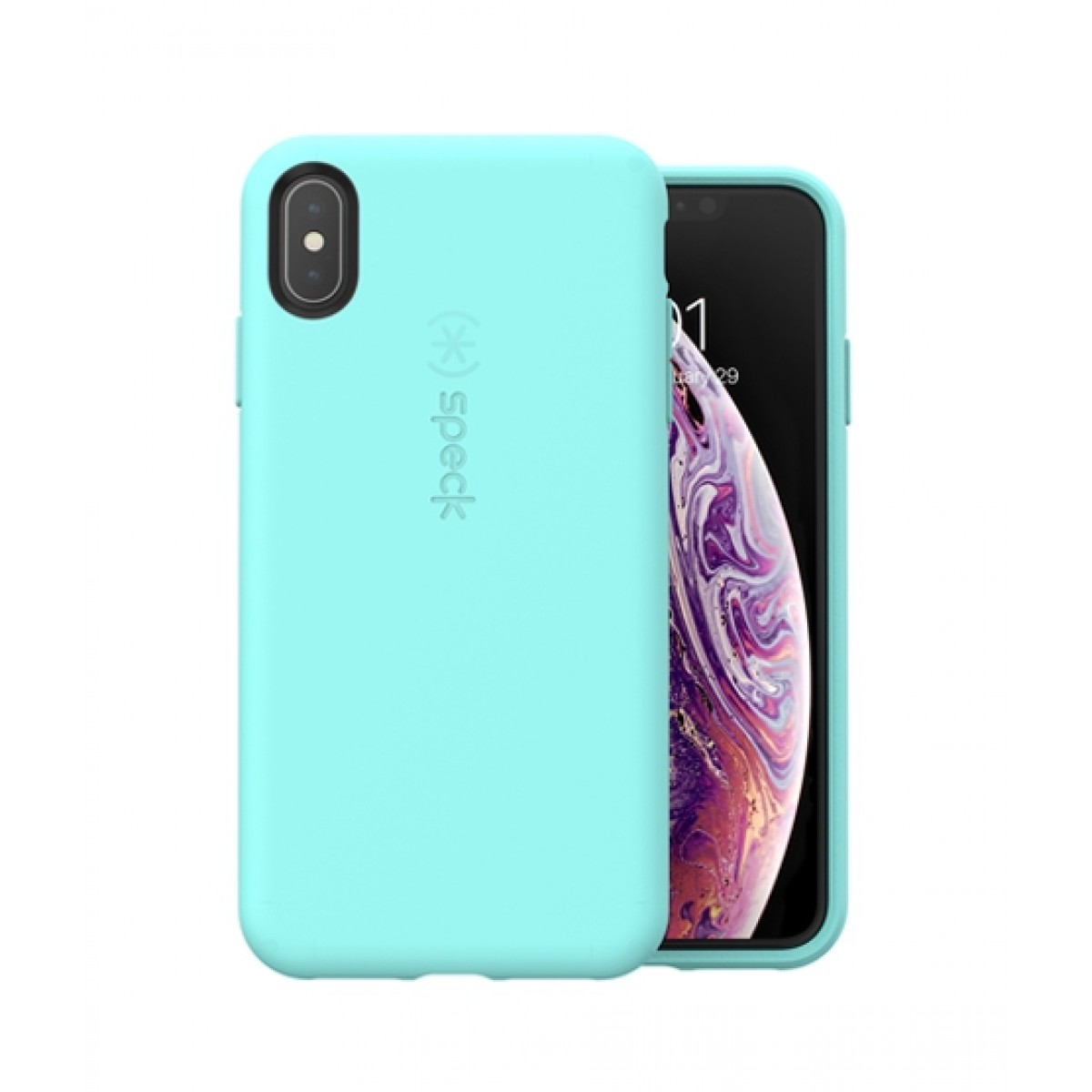 new arrival 87a95 4c2d8 Speck CandyShell Fit Zeal Teal Case For iPhone XS Max