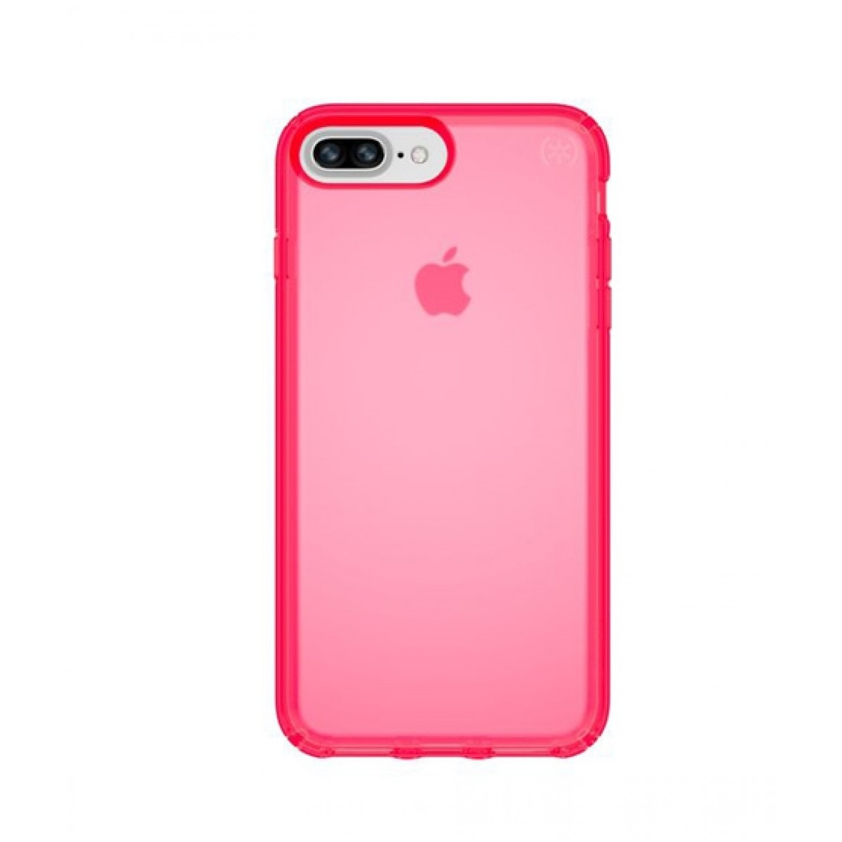 on sale 61e4a b5f68 Speck Presidio Clear Neon Shocking Pink Matte Case For iPhone 8 Plus