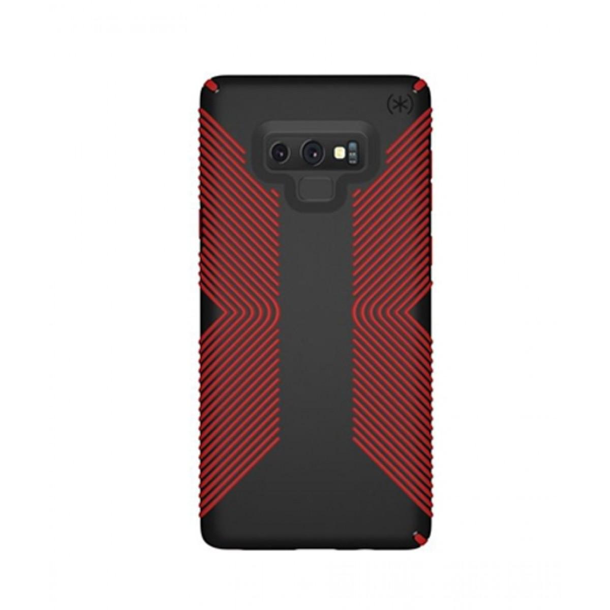 reputable site f2932 4decc Speck Presidio Grip Black/Dark Poppy Red Case For Galaxy Note 9