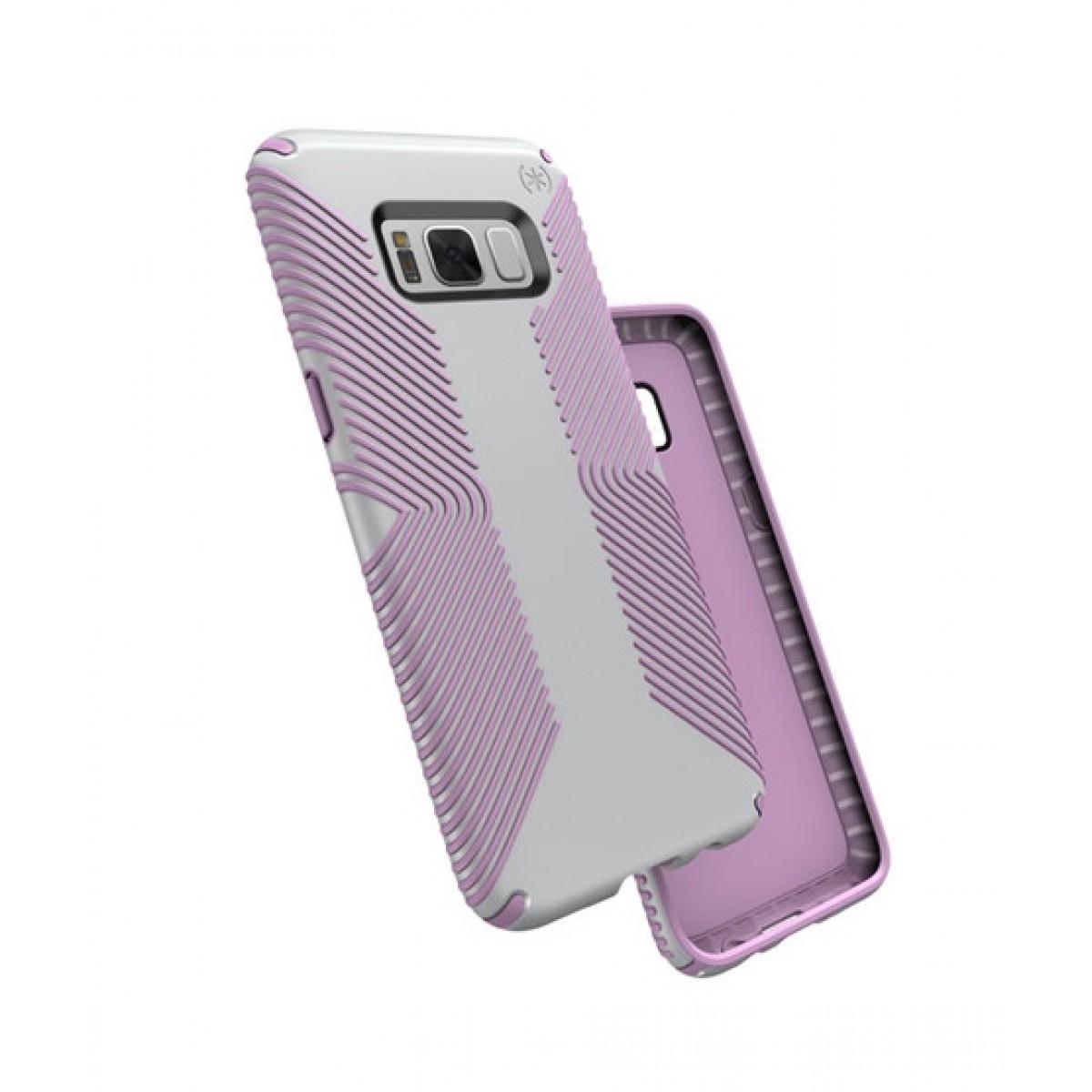 new style f3e8c 620fc Speck Presidio Grip Dolphin Grey/Bellflower Purple Case For Galaxy S8