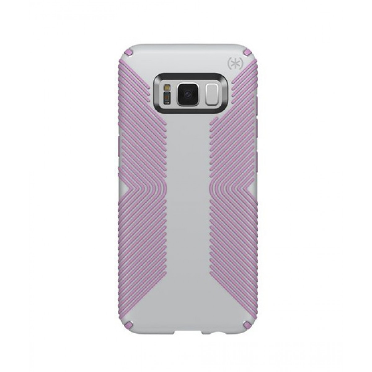 newest ae3c1 3b28e Speck Presidio Grip Dolphin Grey/Bellflower Purple Case For Galaxy S8+