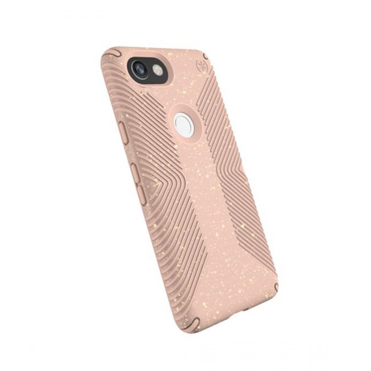 release date: edb36 15af4 Speck Presidio Grip + Glitter Gold/Dahlia Peach Case For Google Pixel 2 XL