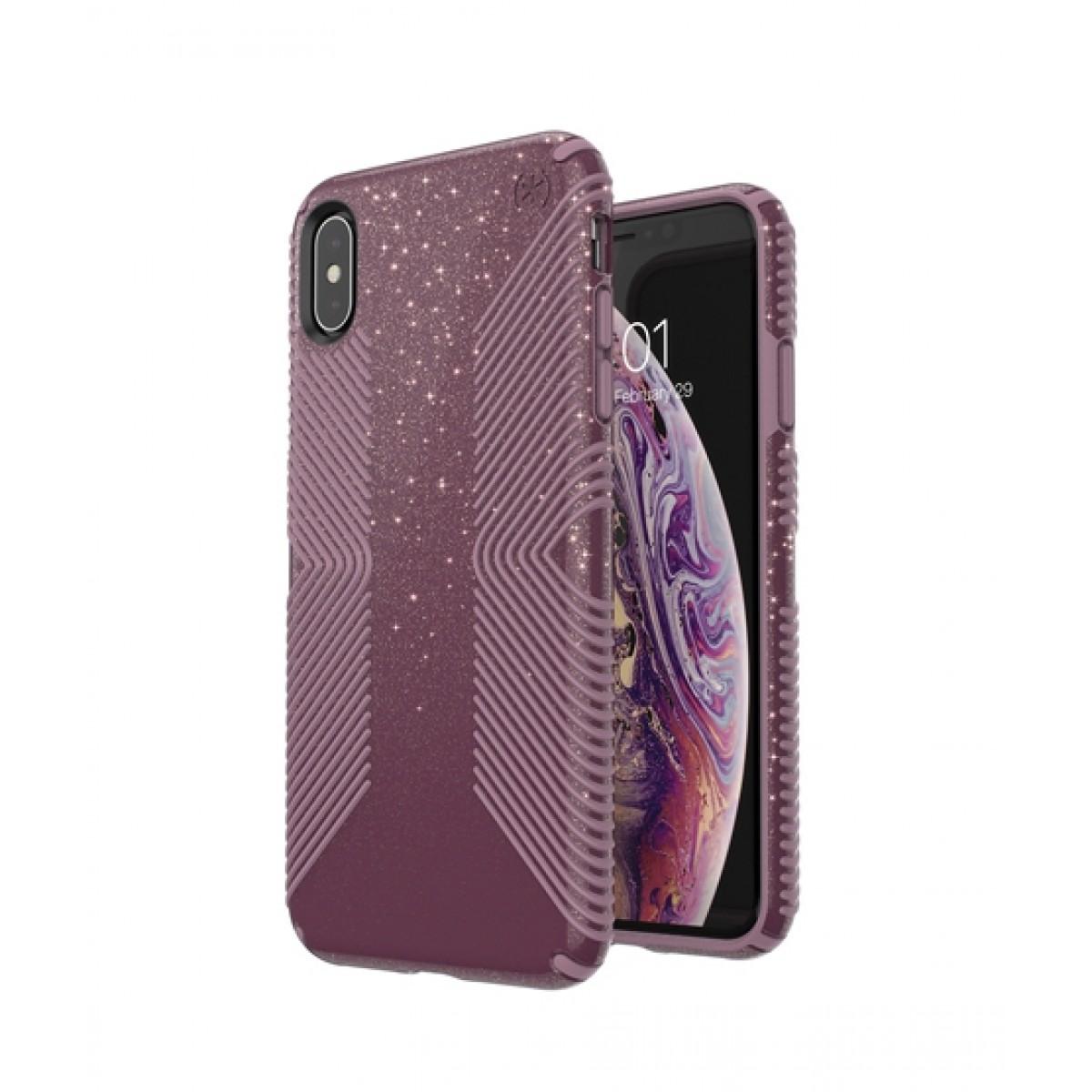 wholesale dealer cd283 7bba9 Speck Presidio Grip + Glitter Starlit Purple/Cattleya Pink Case For iPhone  XS Max