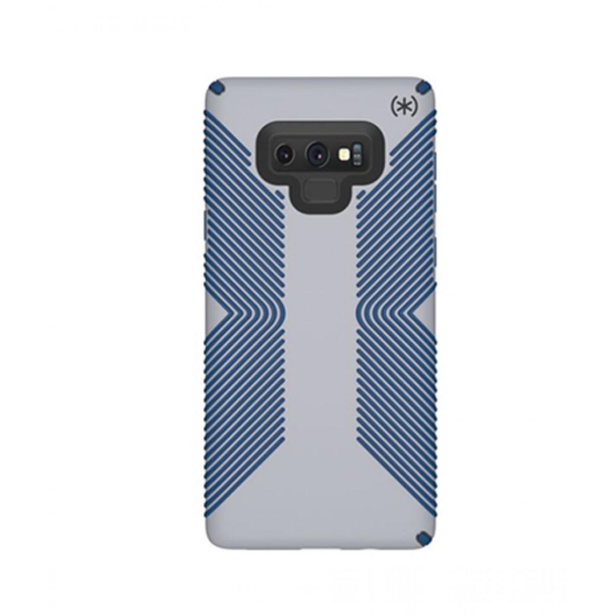 new concept 6e692 a8810 Speck Presidio Grip Microchip Grey/Ballpoint Blue Case For Galaxy Note 9