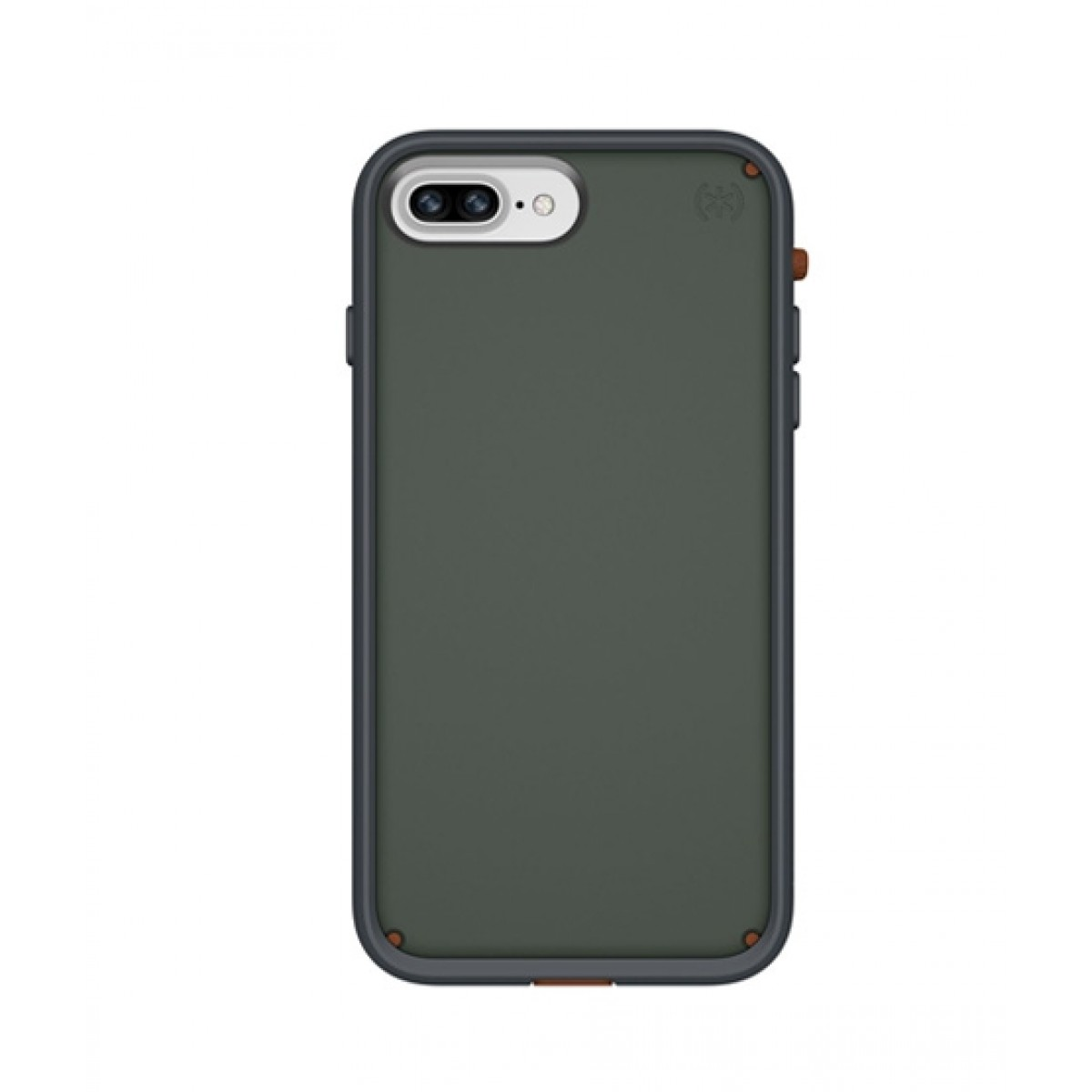 timeless design 76468 1985f Speck Presidio Ultra Field Grey/Terracotta Red Case For iPhone 8 Plus