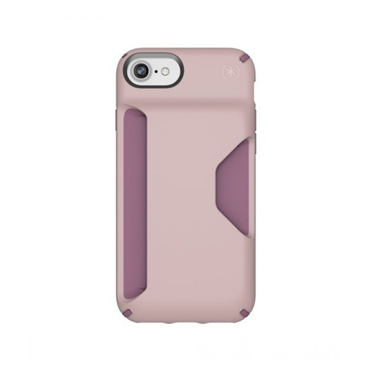 new styles 25fd5 e0235 Speck Presidio Wallet Clay Pink/Plumberry Purple Case For iPhone 8