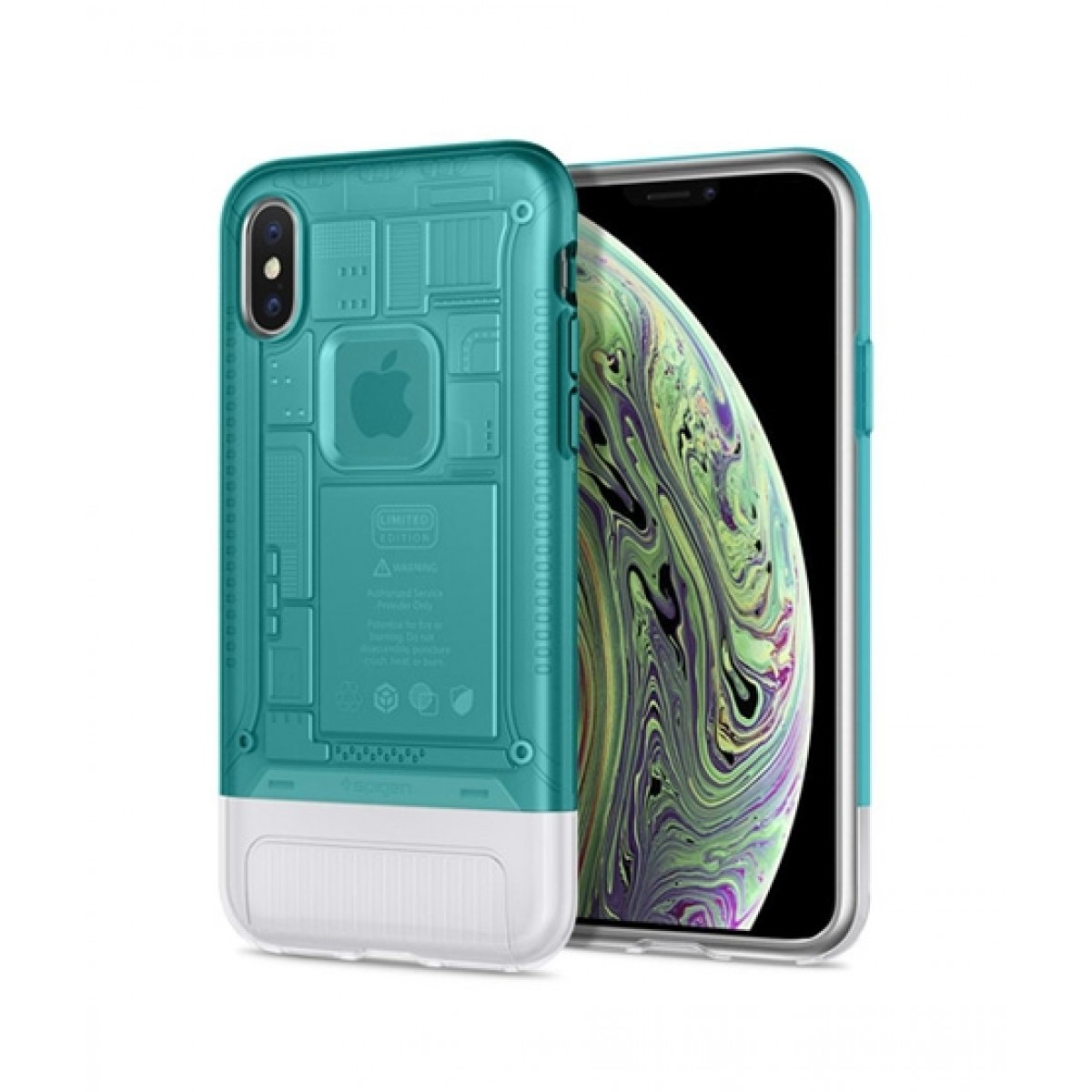 pretty nice 7a3fa 091db Spigen Classic C1 Bondi Blue Case For iPhone X/XS