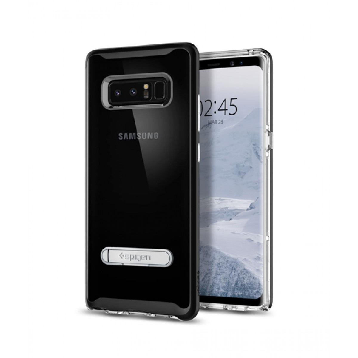 best website 514d0 8e7e4 Spigen Crystal Hybrid Black Case For Galaxy Note 8