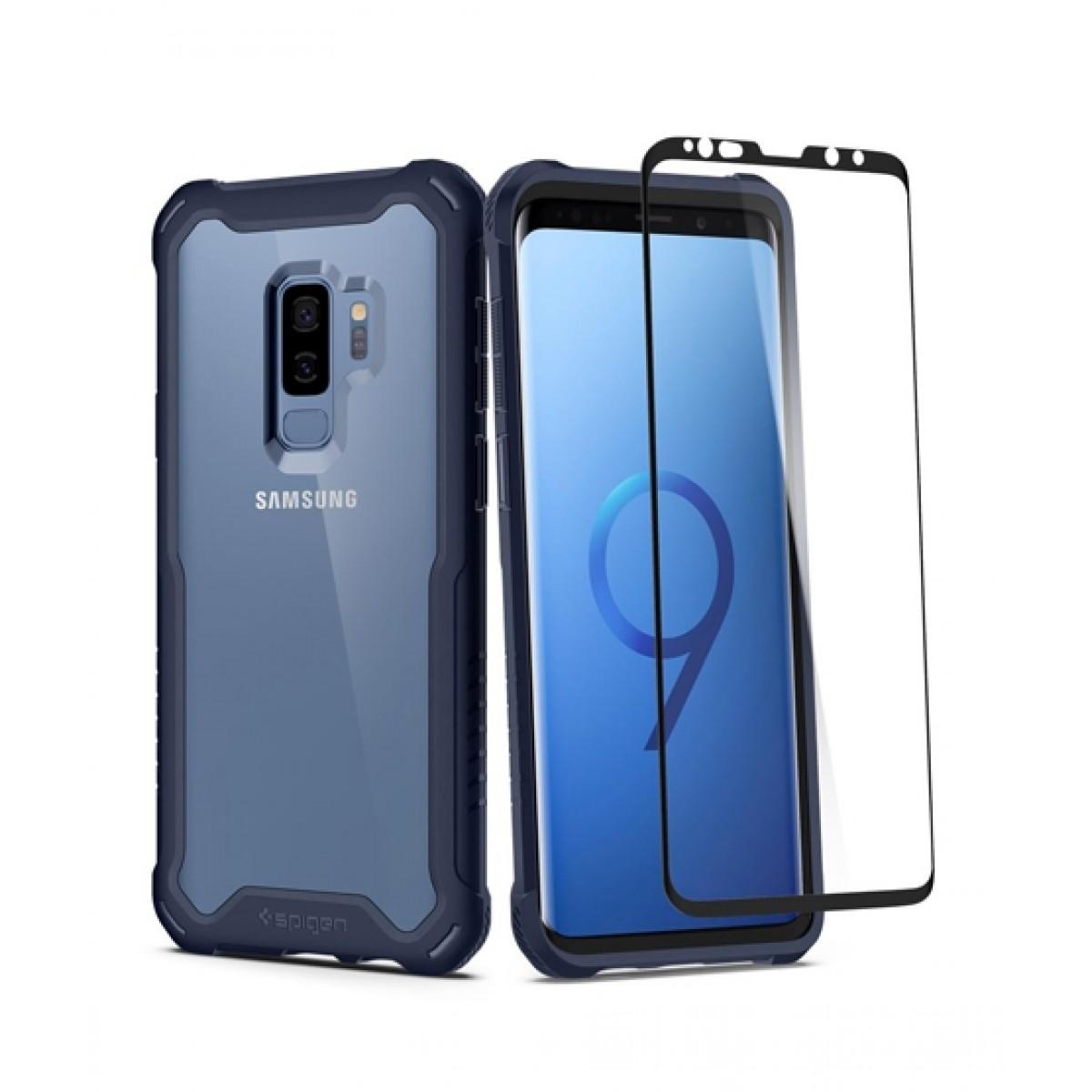 brand new a0d48 1c69e Spigen Hybrid 360 Deepsea Blue Case For Galaxy S9+