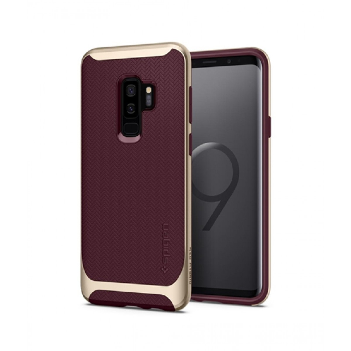 new style 7f8e4 64b1f Spigen Neo Hybrid Burgundy Case For Galaxy S9+