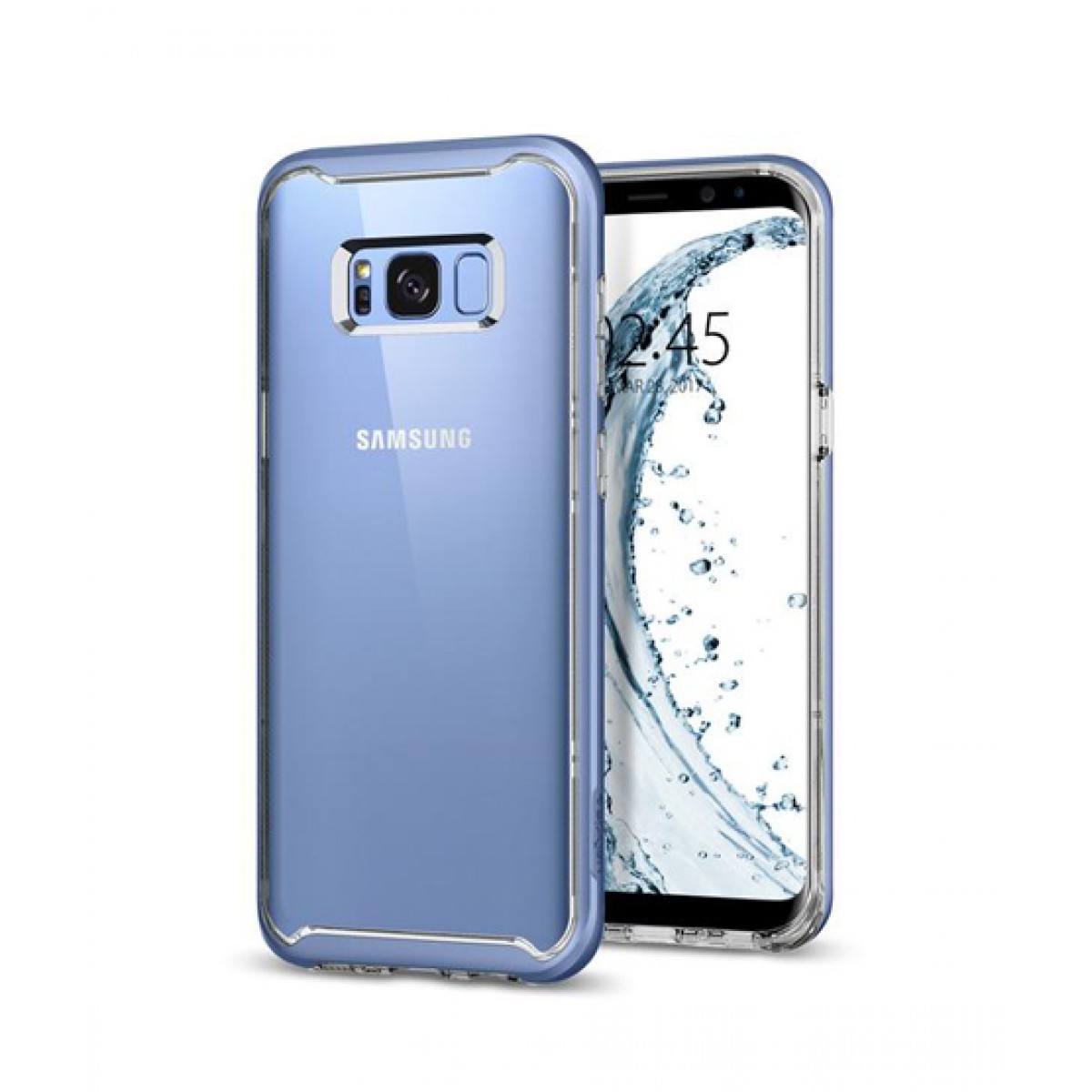 finest selection d4ce9 ee79b Spigen Neo Hybrid Crystal Blue Coral Case For Galaxy S8