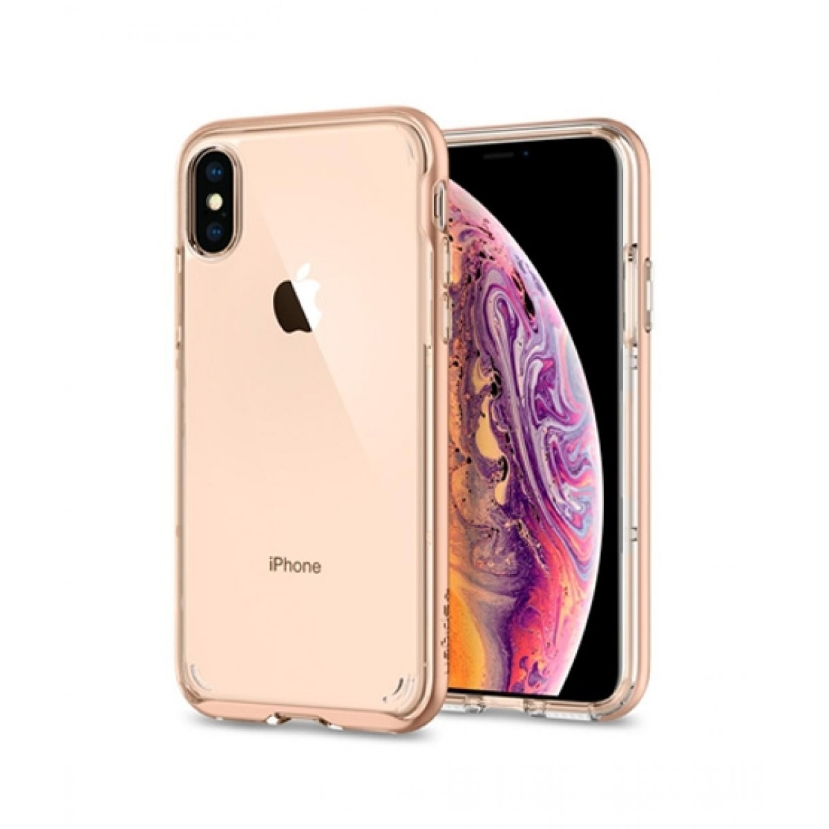 new product 8474a 395c8 Spigen Neo Hybrid Crystal Blush Gold Case For iPhone X/XS
