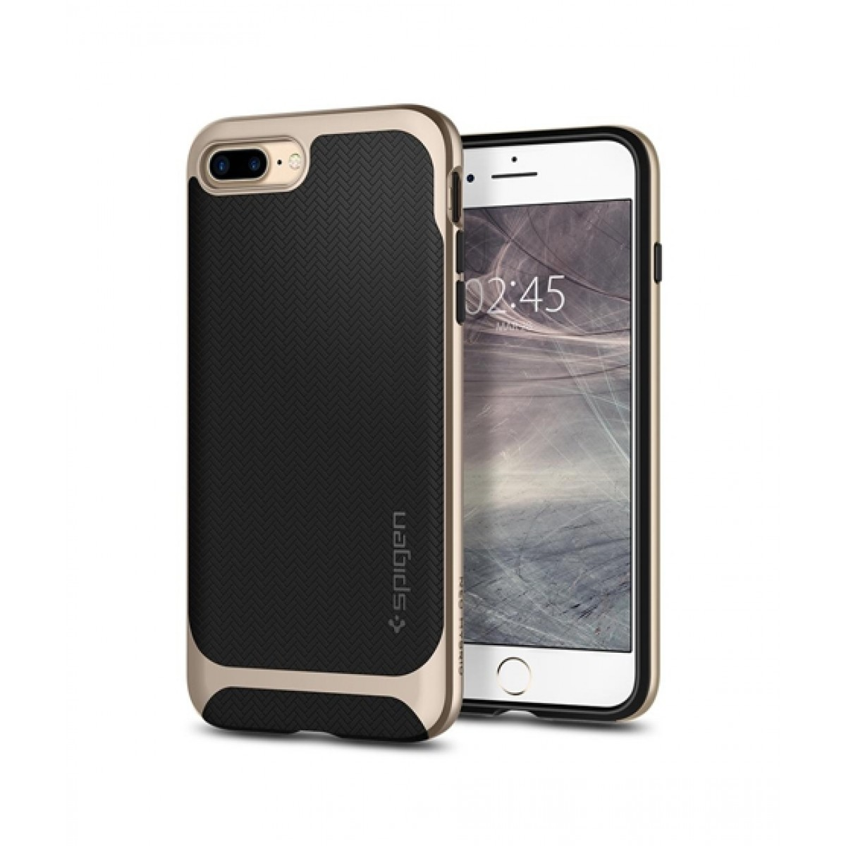 new concept 52804 31265 Spigen Neo Hybrid Herringbone Champagne Gold Case For iPhone 8 Plus